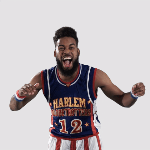 harlemglobetrotters funny laughing
