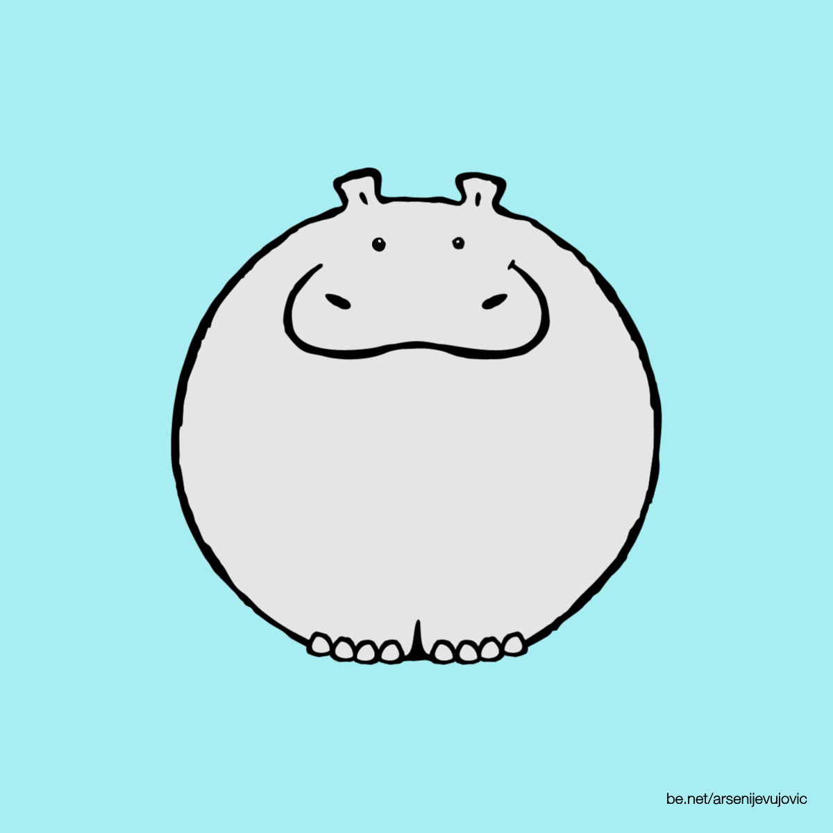 animation hippo hippopotamus