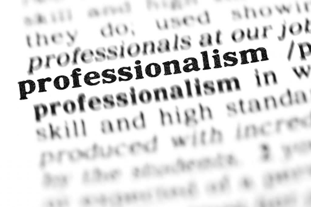 teach professionalism