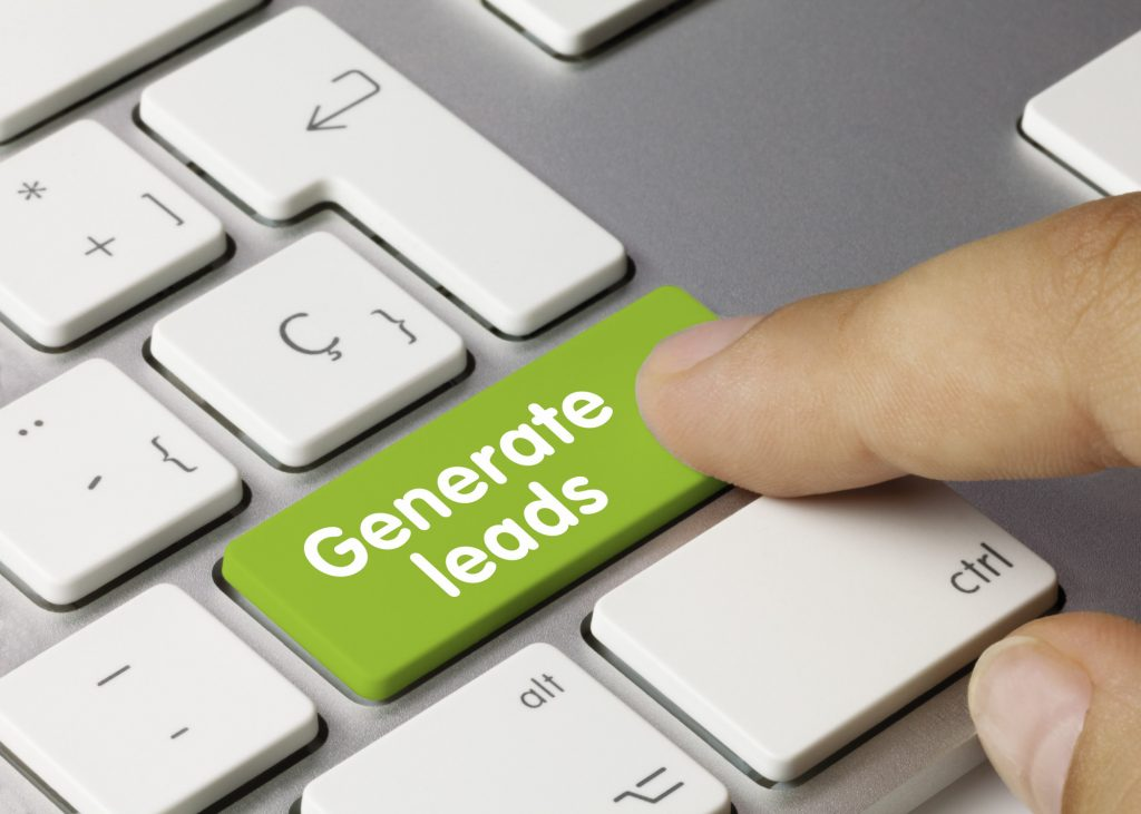 generate leads button on computer