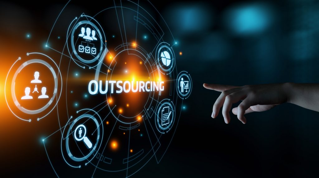 outsourcing text and icons
