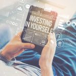 investing in yourself text and graphics