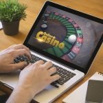 online casino on laptop