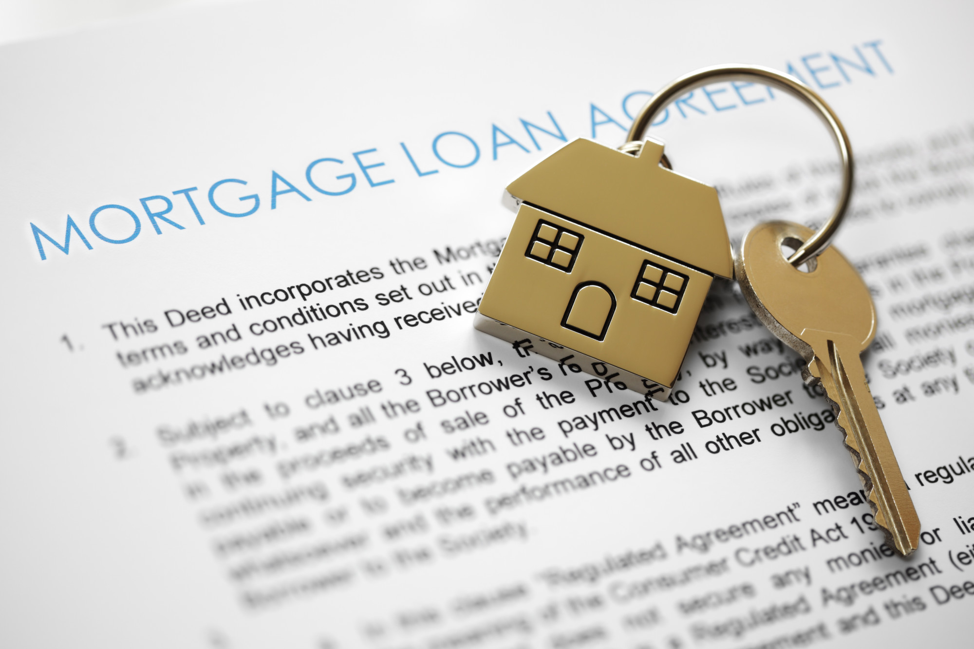 mortgage loan with house key