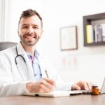 family doctor at desk