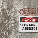 danger contains asbestos sign