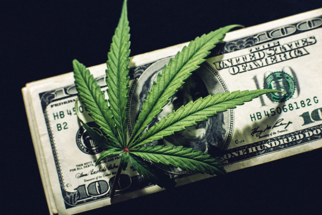 Marijuana and a Hundred Dollar Bill